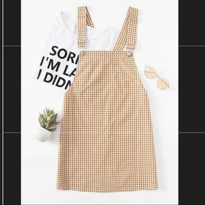 SHEIN GINGHAM OVERALL DRESS